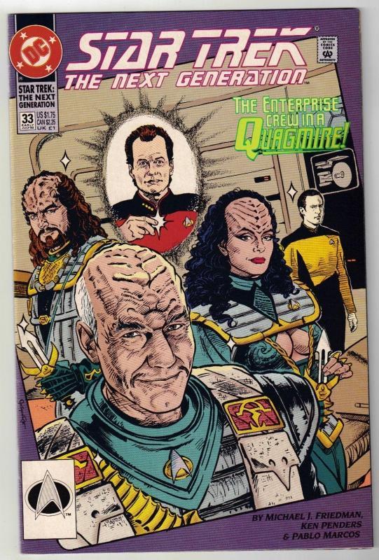 Star Trek The Next Generation #33 comic book near mint 9.4