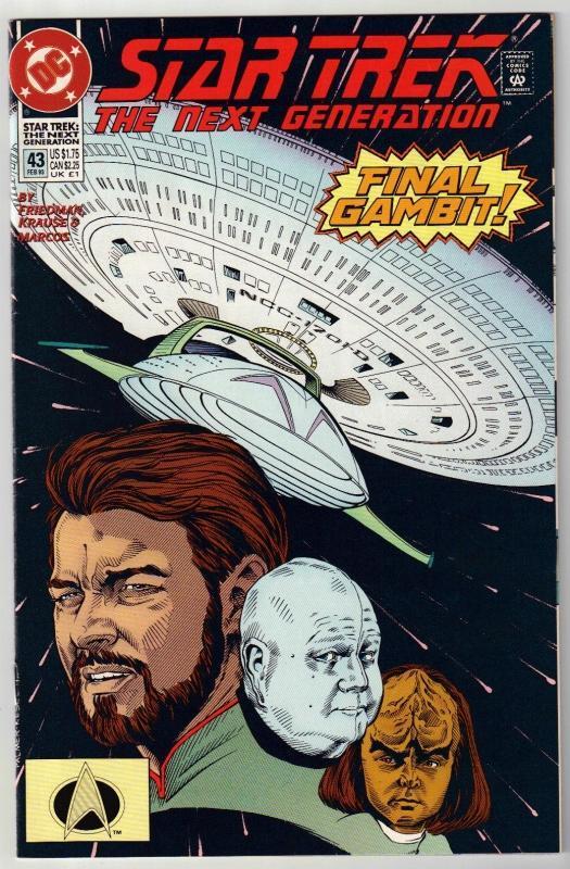 Star Trek The Next Generation #43 comic book near mint 9.4