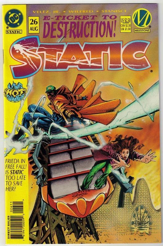 Static #26 comic book near mint 9.4