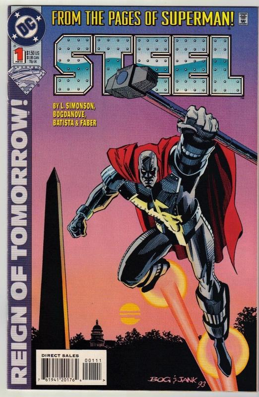 Steel #1 comic book near mint 9.4