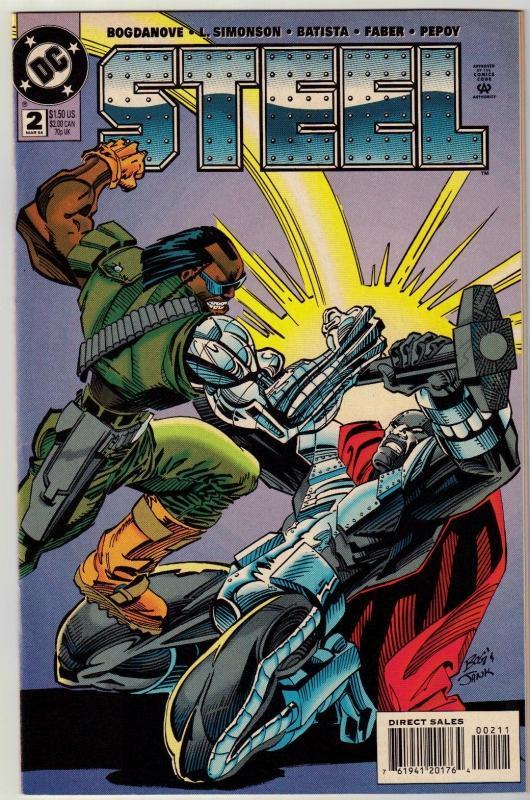 Steel #2 comic book near mint 9.4