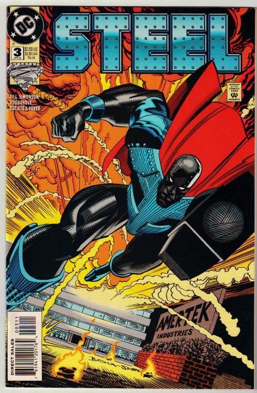 Steel #3 comic book near mint 9.4