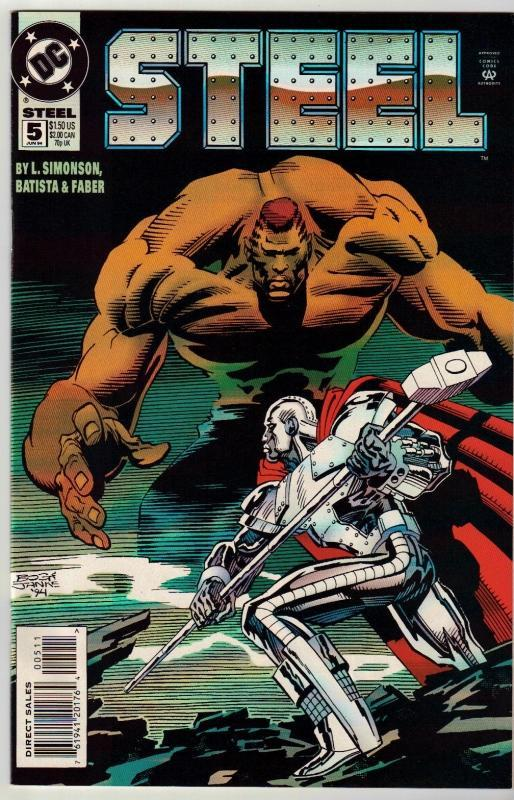 Steel #5 comic book near mint 9.4
