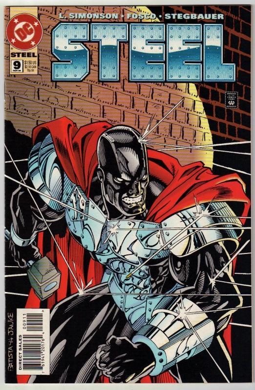 Steel #9 comic book near mint 9.4