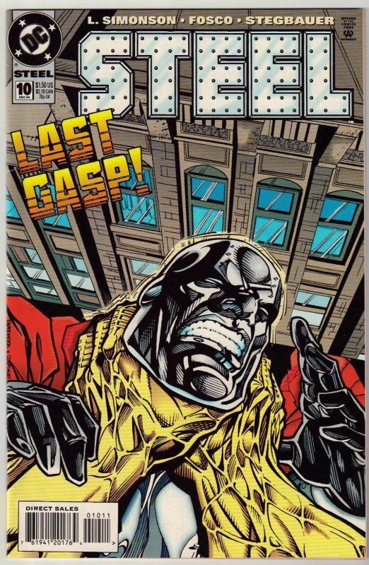 Steel #10 comic book near mint 9.4