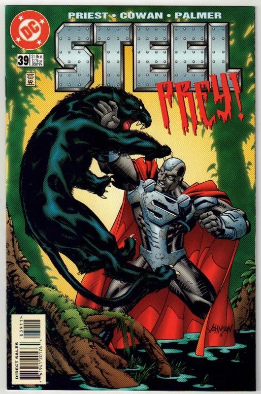 Steel #39 comic book near mint 9.4