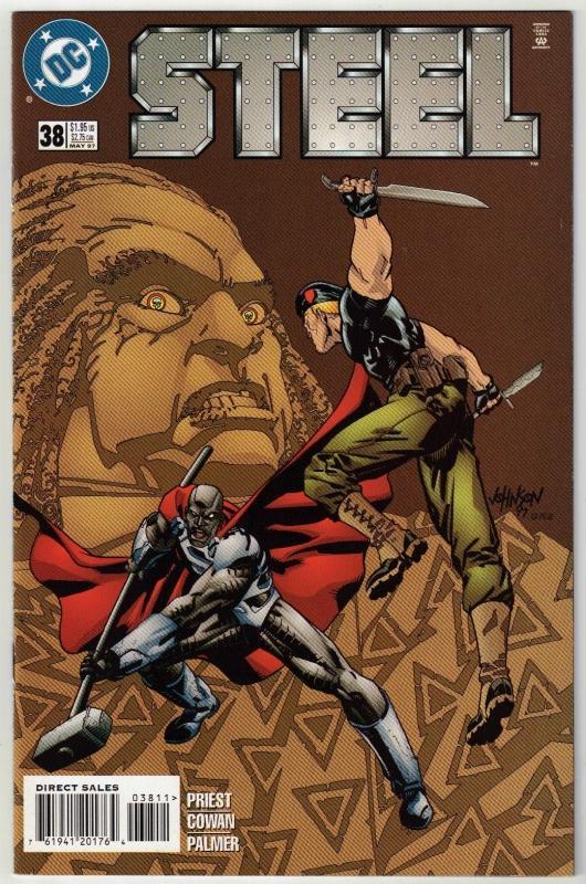 Steel #38 comic book near mint 9.4