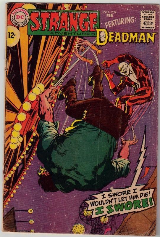 Strange Adventures #209 comic book very good 4.0