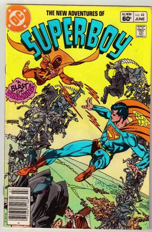 New Adventures of Superboy #42 comic book very good 4.0