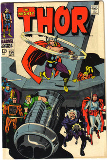 The Mighty Thor #156 comic book fn/vf 7.0