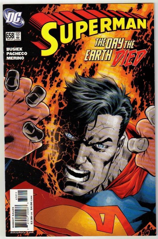 Superman #658 comic book near mint 9.4