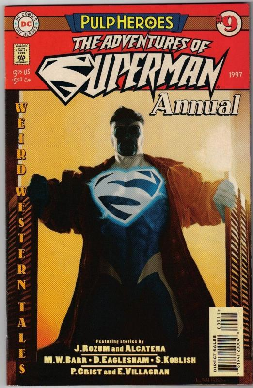 Adventures of Superman annual #9 comic book near mint 9.4