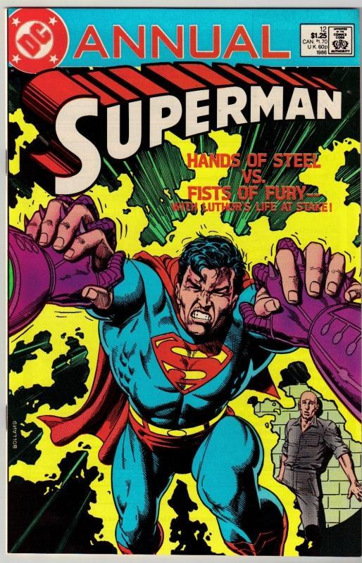 Superman annual #12 comic book near mint 9.4