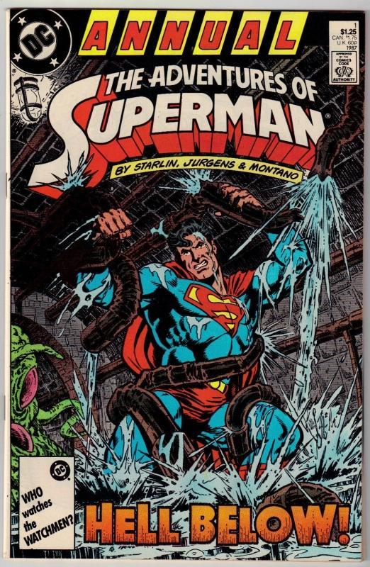 Adventures of Superman annual #1 comic book near mint 9.4