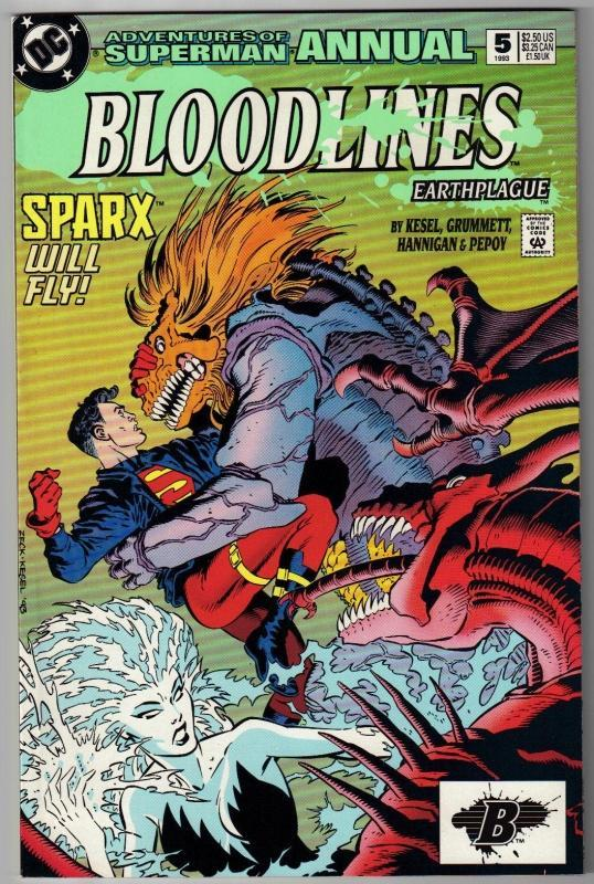 Adventures of Superman annual #5 comic book near mint 9.4