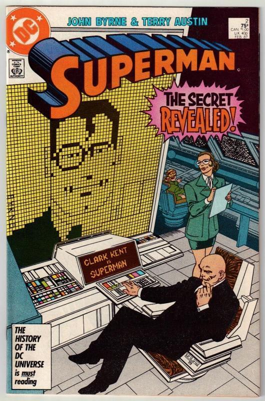 Superman #2 comic book near mint 9.4
