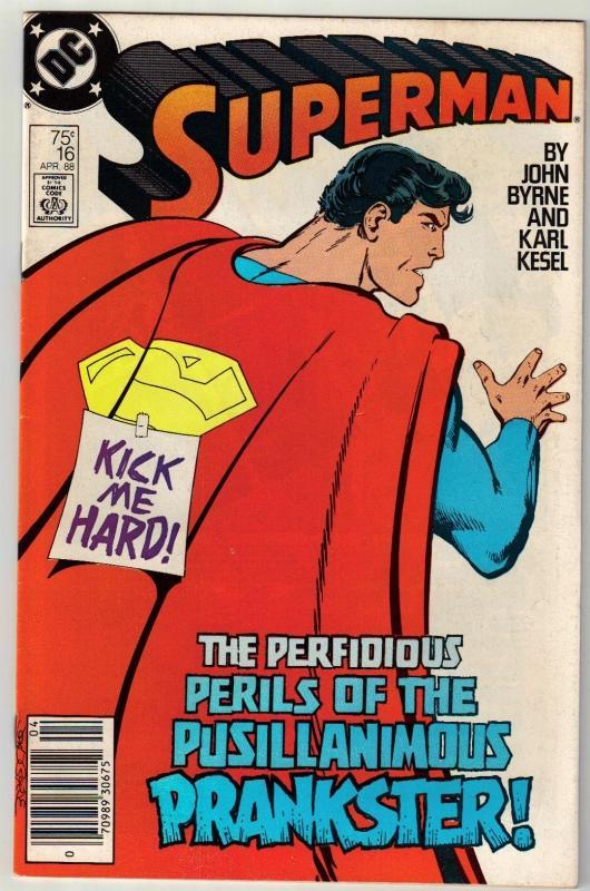 Superman #16 comic book very fine 8.0
