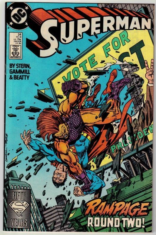 Superman #24 comic book near mint 9.4