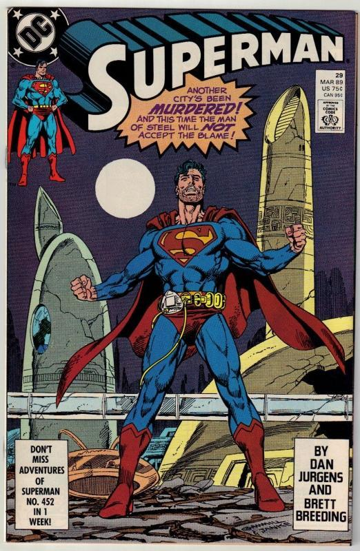 Superman #29 comic book near mint 9.4