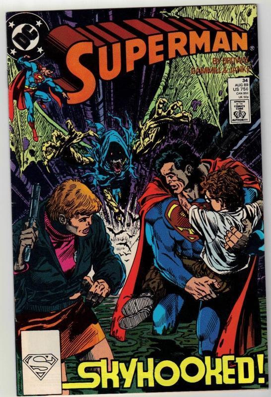 Superman #34 comic book near mint 9.4