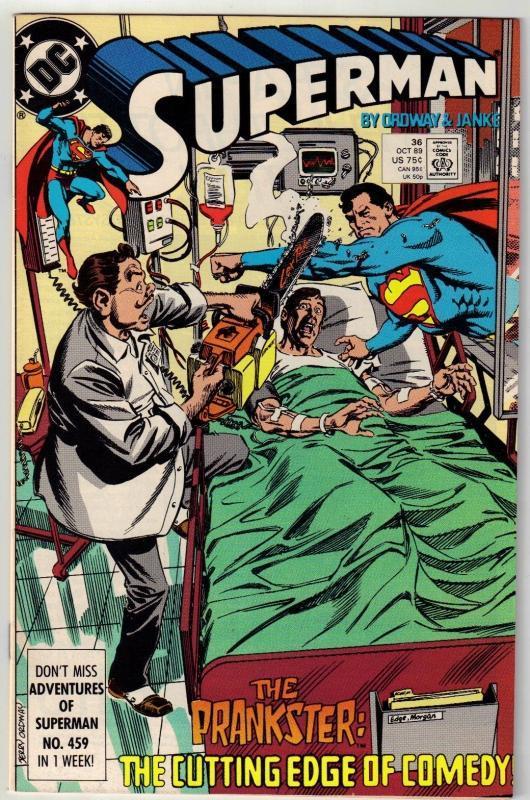 Superman #36 comic book near mint 9.4