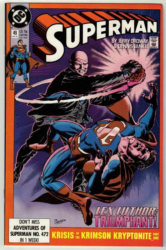 Superman #49 comic book near mint 9.4