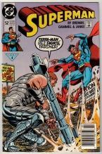 Superman #52 comic book near mint 9.4