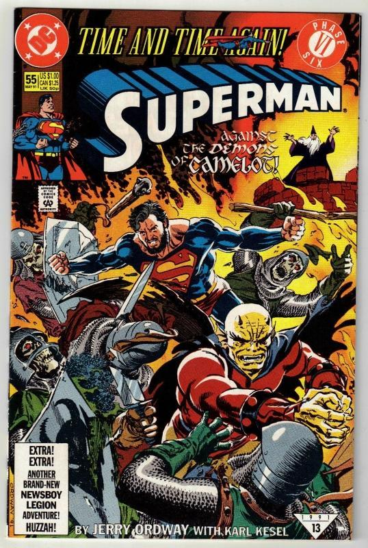 Superman #55 comic book near mint 9.4