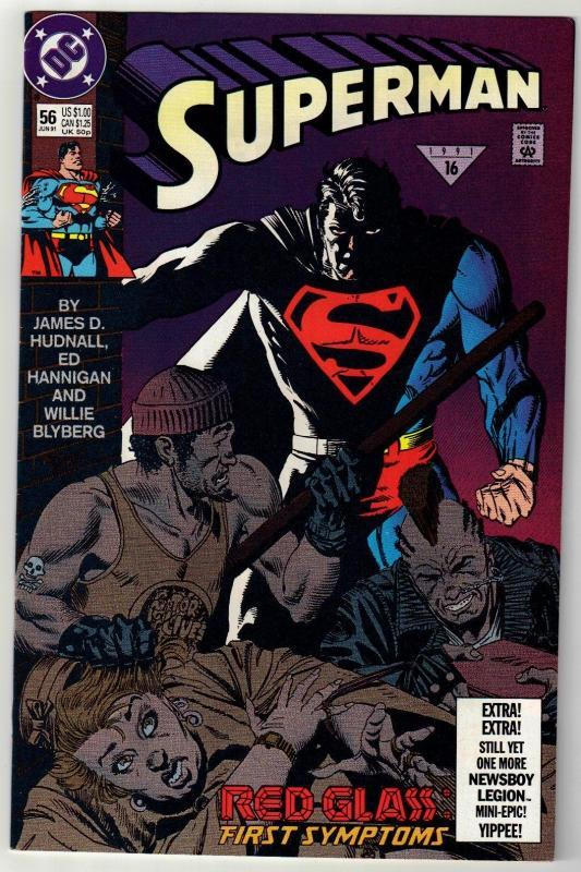 Superman #56 comic book near mint 9.4