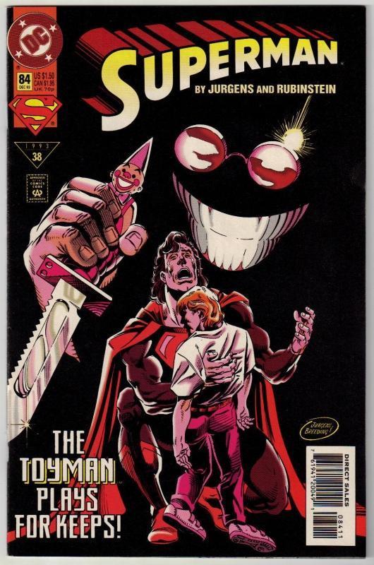 Superman #84 comic book near mint 9.4