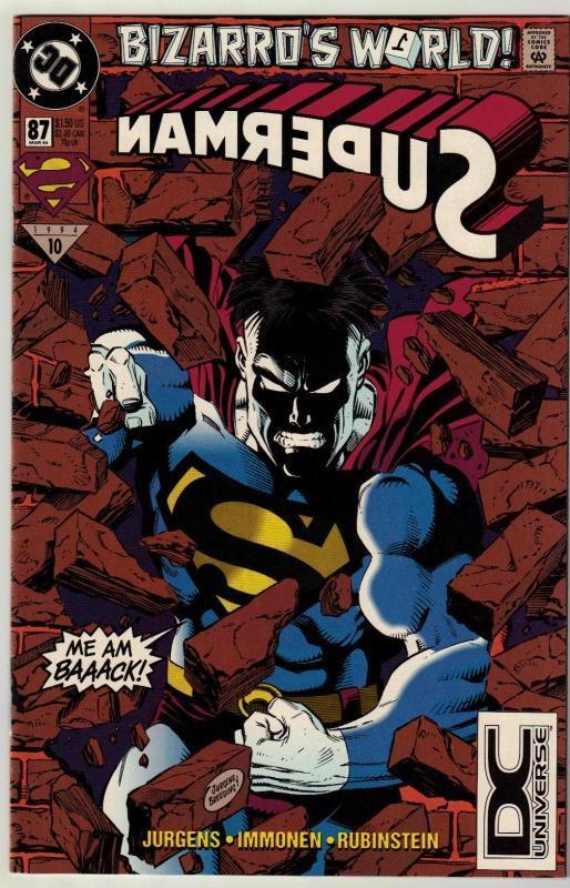 Superman #87 comic book near mint 9.4