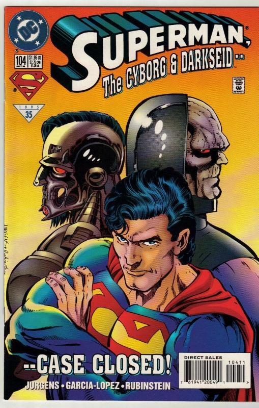 Superman #104 comic book near mint 9.4