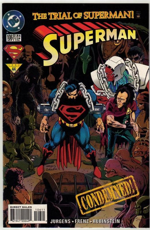 Superman #106 comic book fine 6.0