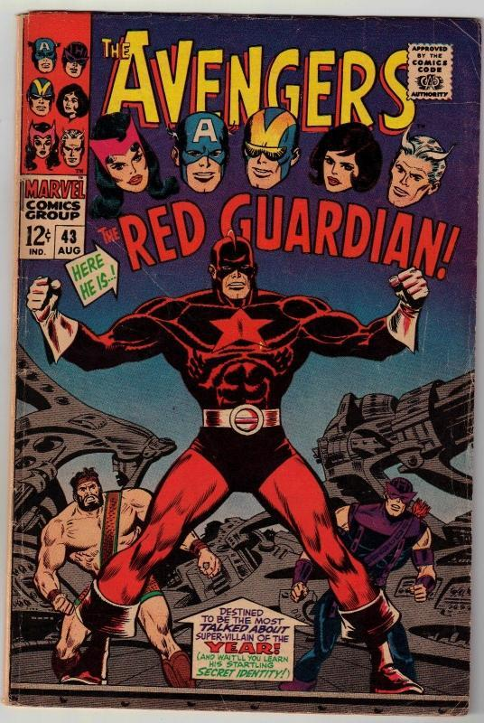 Avengers #43 featuring Red Guardian comic book ver good 4.0