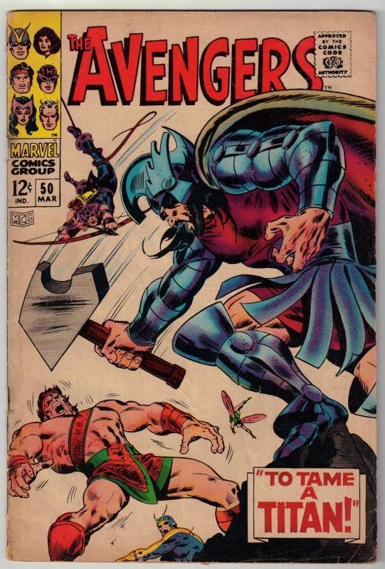 Avengers #50 comic book very good 4.0