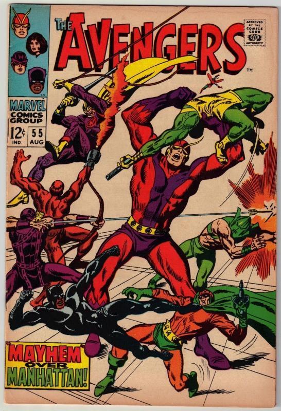 Avengers #55 comic book good/very good 3.0