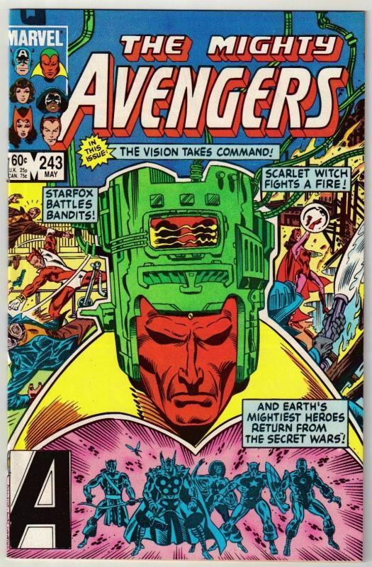 Avengers #243 comic book mint 9.4