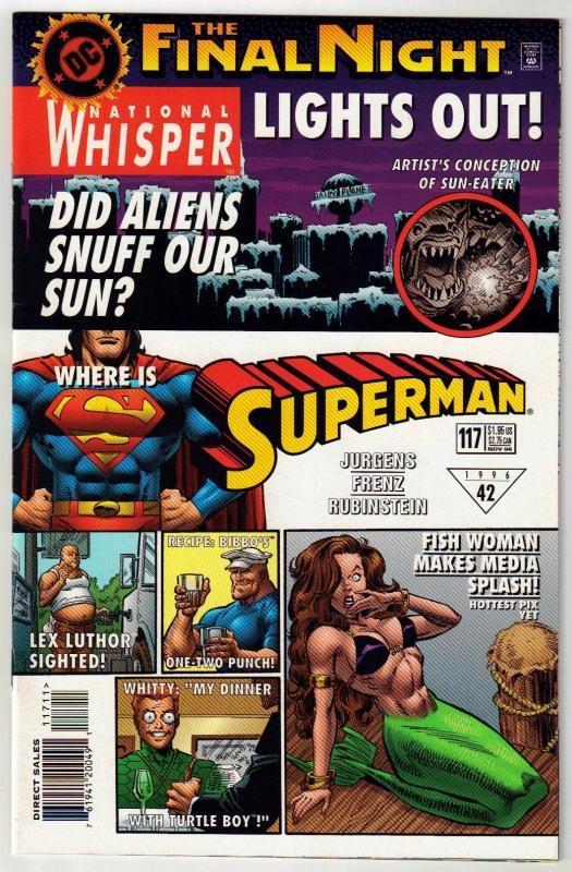 Superman #117 comic book near mint 9.4