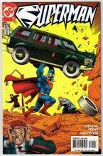 Superman #124 comic book near mint 9.4