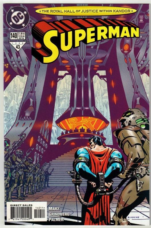 Superman #140 comic book near mint 9.4