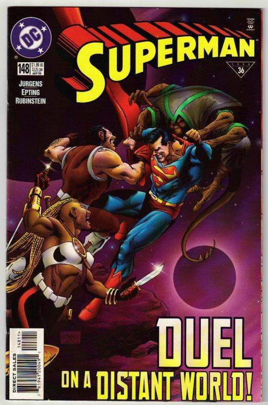 Superman #148 comic book near mint 9.4