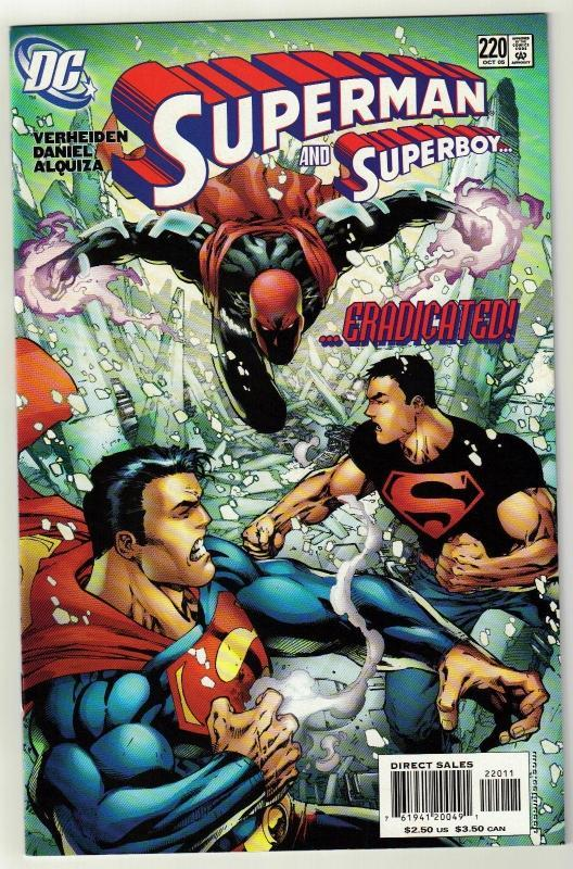 Superman #220 comic book near mint 9.4