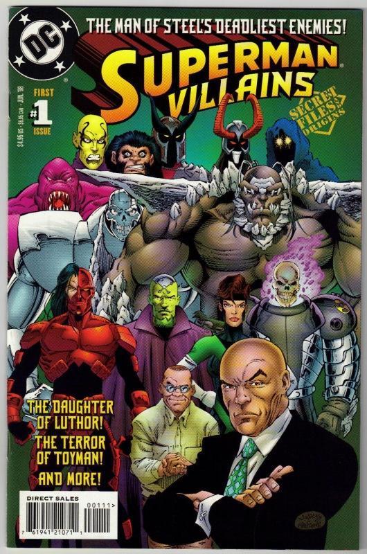 Superman Villains #1 comic book mint 9.8