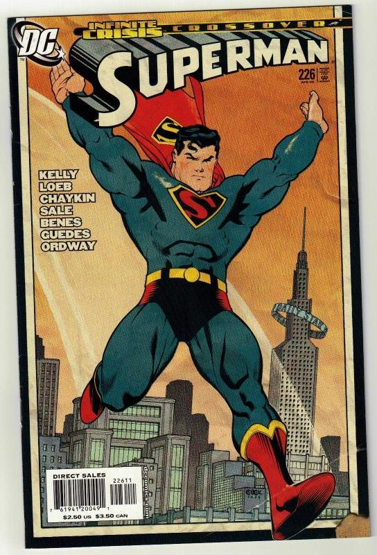 Superman #226 comic book near mint 9.4