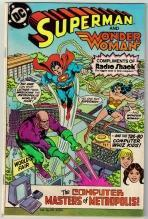 Superman  and Wonder Woman Radio Shack issue very fine 8.0