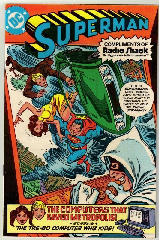 Superman Radio Shack issue  comic book near mint 9.4