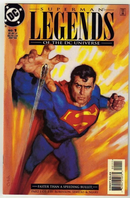 Superman Legends of the DC Universe #1 comic book near mint 9.4