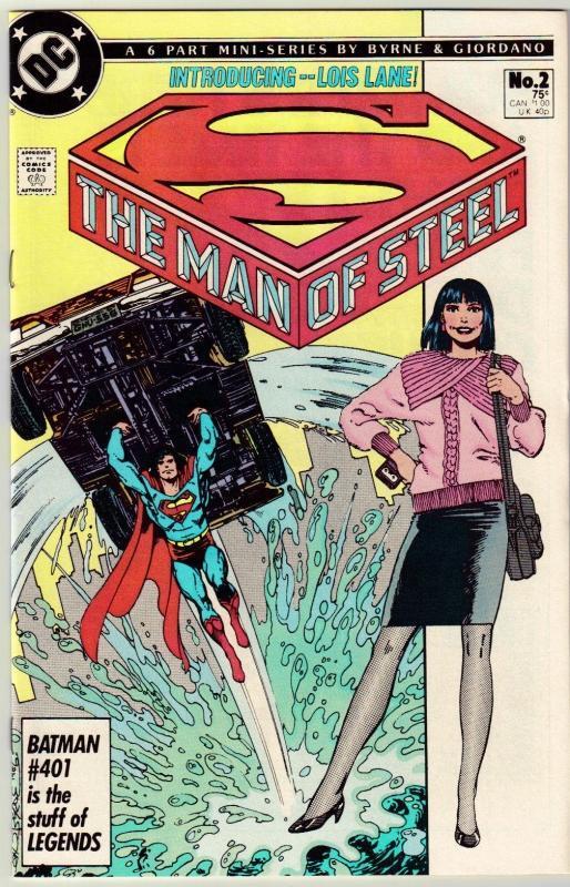 The Man of Steel #2 comic book near mint 9.4