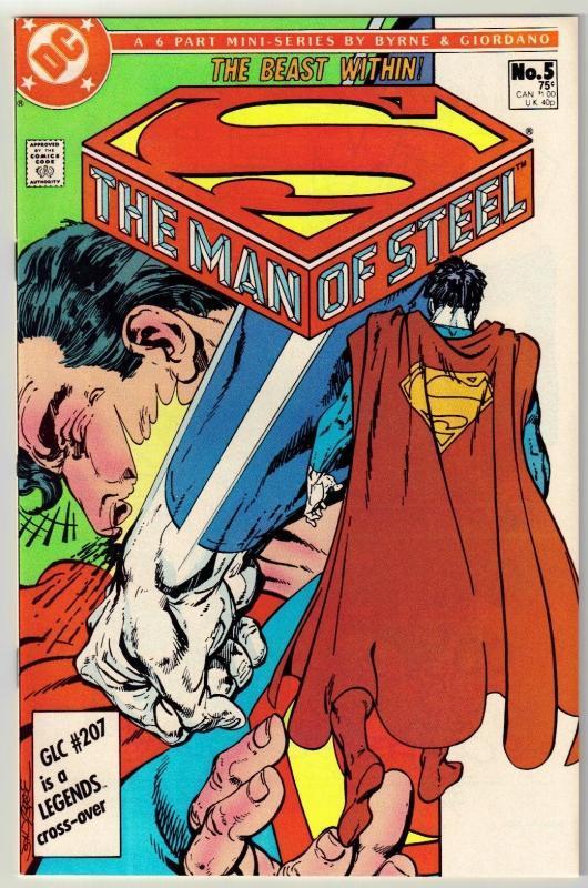 The Man of Steel #5 comic book near mint 9.4