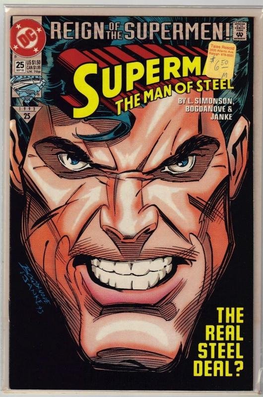 Superman  The Man of Steel #25 comic book mint 9.8